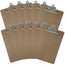 China manufacture good quality custom Letter Size Clipboards 9'' x 12.5'' Standard Clip Hardboard (Pack of 12)