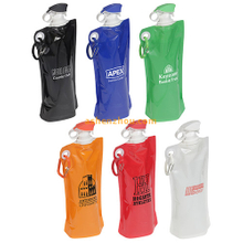 Collapsible plastic sports bottle for gym, water bottle foldable, BPA Free foldable water bottle