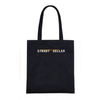 Wholesale custom design printed bespoke fabric black cloth shpper cotton canvas bags