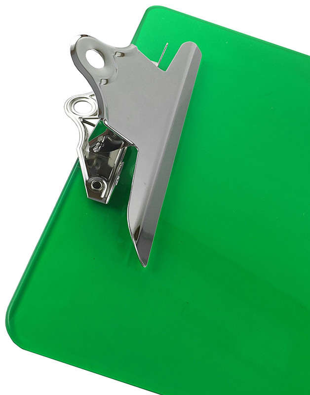Hot Sale popular high quality custom various design clear A4 plastic clipboard with holde for office