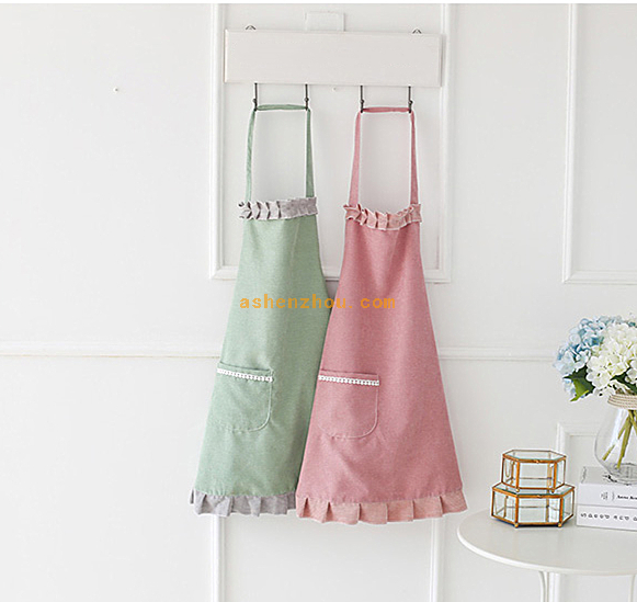 Bottom price custom household cooking kitchen adult cotton canvas apron
