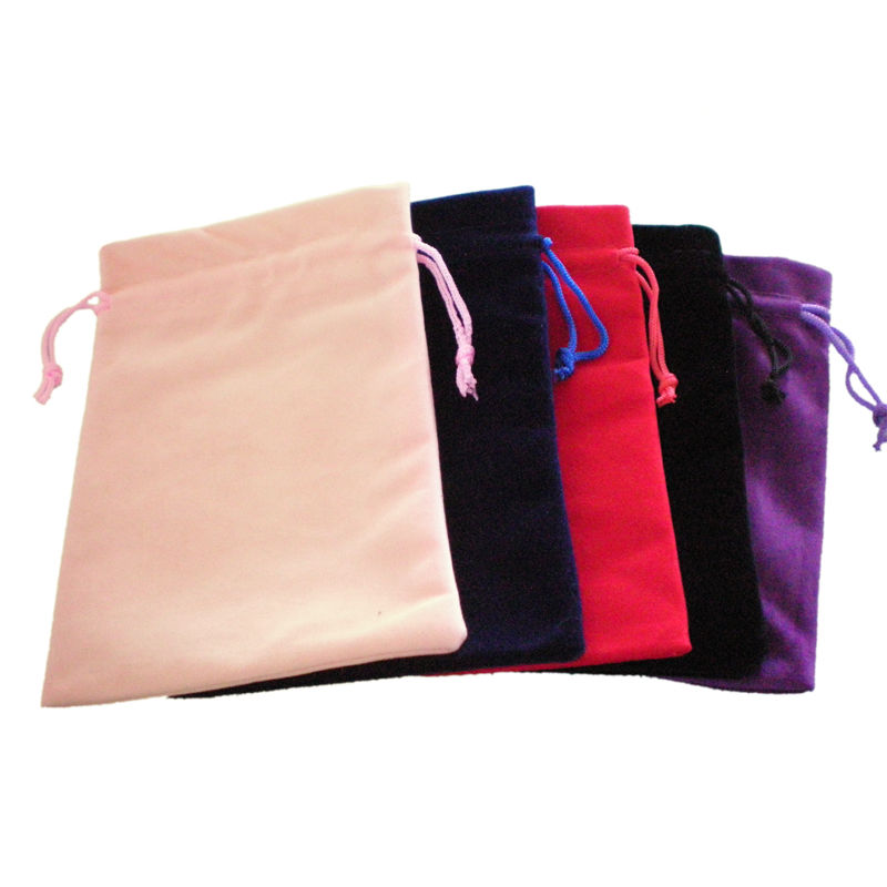 SHENZHOU Factory wholesale recycled satin jewelry bulk pouches custom printed jewelry pouches drawstring velvet jewelry gift bag