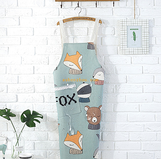 Promotional cheap custom logo cooking kitchen chef non woven cotton reusable advertising adult apron