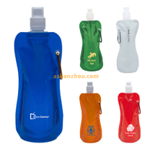 Plastic drinking bottle, custom foldable water bag, custom foldable water bottle for promotional