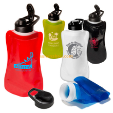 Foldable drinking water bottle, travel BPA Free sports collapsible water bottle, collapse plastic bottle.