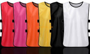 Wholesale good price custom soccer race bib training vest scrimmage jerseys kids vest