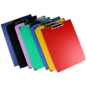 New design popular custom made A4 plastic PVC folder clipboard for office with flat clamp