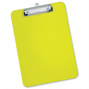 New design cheap price custom made ps material colorful plastic A5 clipboard with storage
