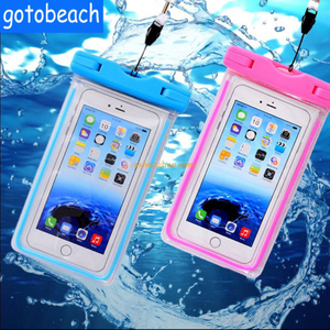Universal 100% waterproof case mobile phone bag underwater pouch for iphone 7 pvc dry bag pouch for cell phone