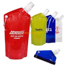 Traveling water bottle custom sports fold bottle plastic portable foldable water bottle