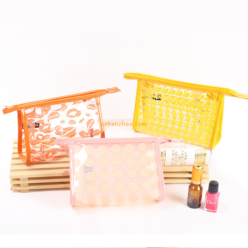 Best-selling wholesale custom durable transparent flat bottom PVC candy bags for carring