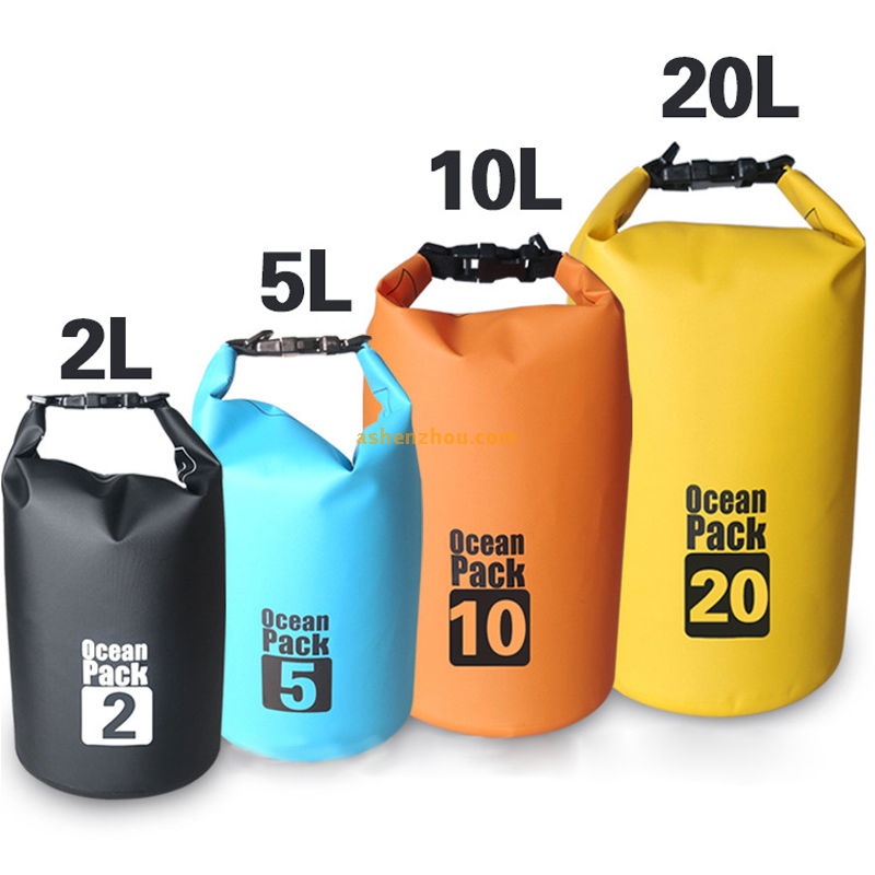 Waterproof floating dry bag with shoulder strap for boating camping and kayaking, outdoor dry bag, dry bag pack