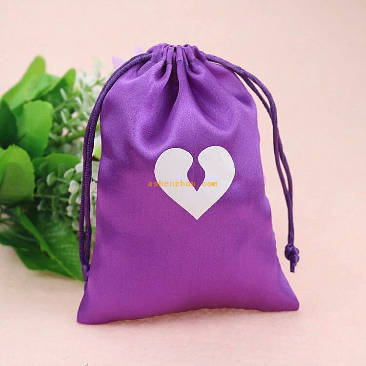 China manufacturer custom satin jewelry bags with logo wholesale