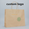 Fashion super quality cheap custom full color printing recycled wax coated kraft paper tote bag for food