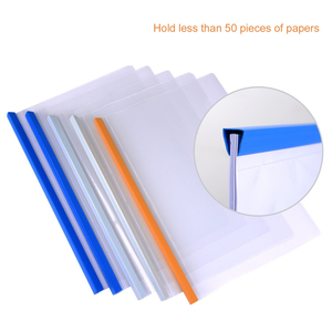 New arrival best price custom design A4 transparent report cover folder binder spine bar slide clamp