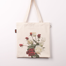 China factory wholesale price promotional custom logo printed personalized colored printed muslin canvas fabric long tote bags